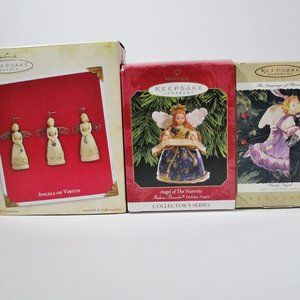 5 HALLMARK Keepsake Angel Ornaments